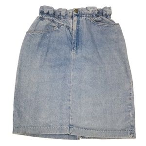 Carlyle | Vintage High Waisted Denim Skirt